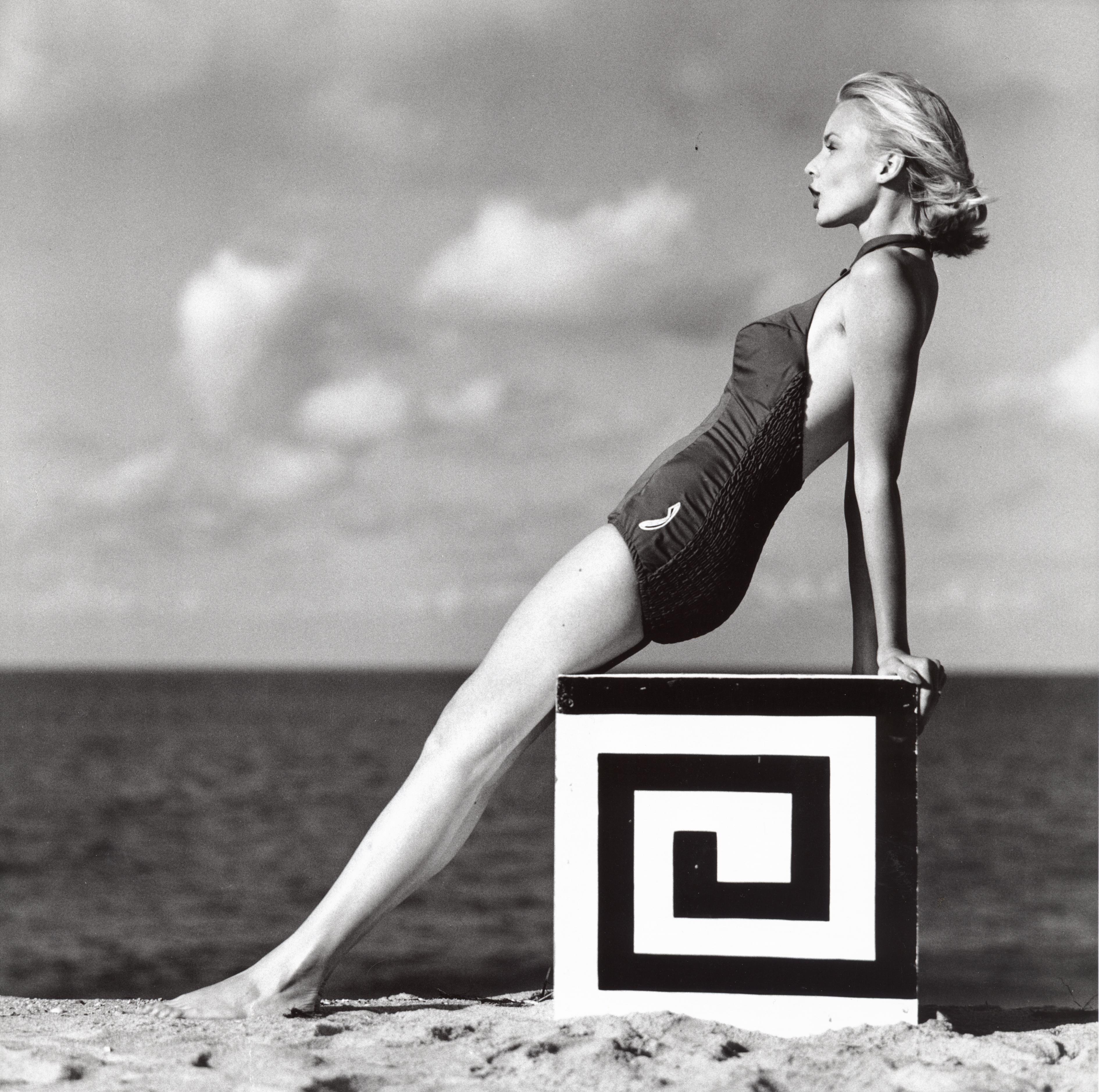 Christa Vogel on the beach Photo by F.C Gundlach 1958