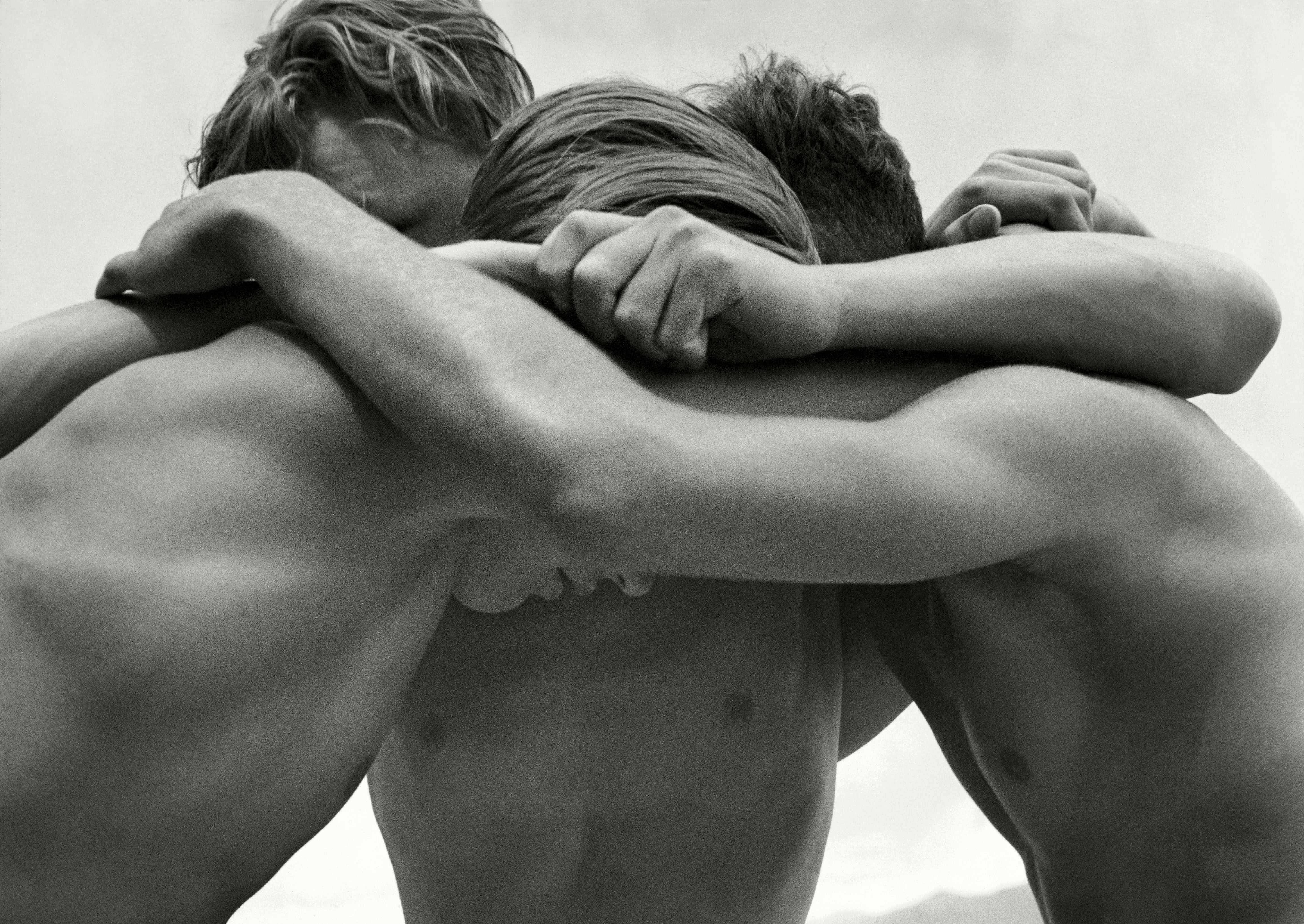 Wrestling boys at the baltic sea by Herbert List 1933