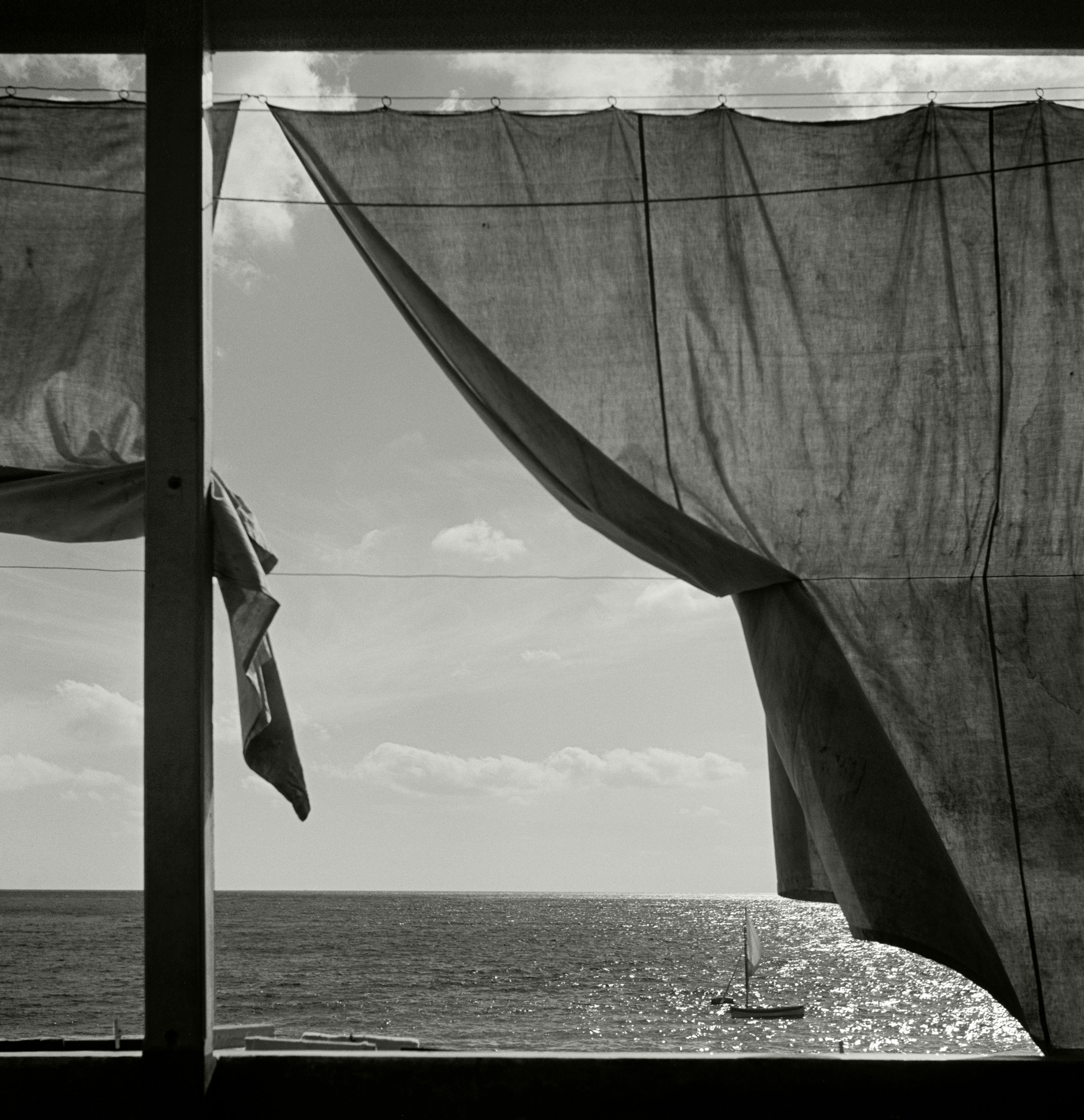 Liguria Italy 1936 window view of sea by Herbert List